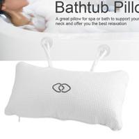 Appuie-t/ête spa pour baignoire Oreiller de bain sac de lavage en cadeau gratuit technologie 3D Air Mesh 6 ventouses pour antid/érapant Coussin de baignoire spa