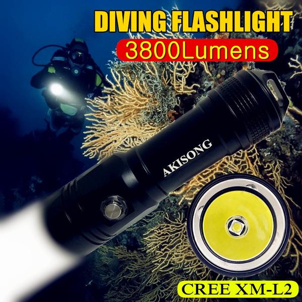 Flashlight, underwater, seaside, led