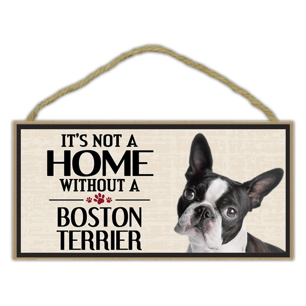 Decor, Home & Living, Dogs, bostonterrier