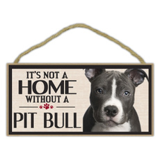 Decor, pitbullterrier, Home & Living, Dogs