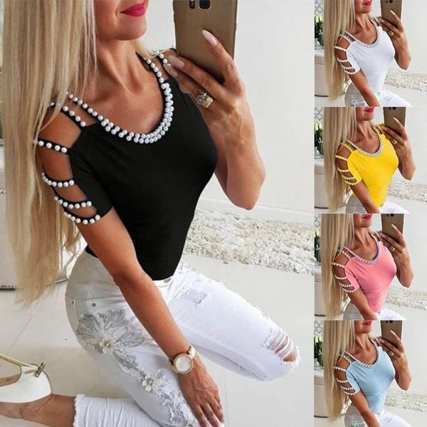 blouse, pearladornment, Fashion, Shirt