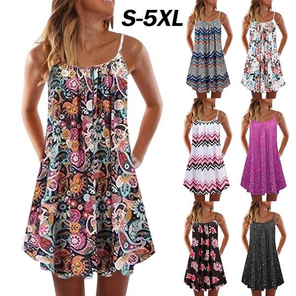 Summer, Plus Size, Floral print, Dress