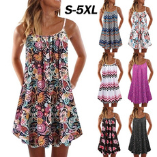 Summer, Plus Size, Floral print, Dress