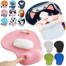 pink, cute, mouse mat, ergonomic