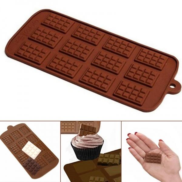 Mini, Silicone, chocolatemould, brown