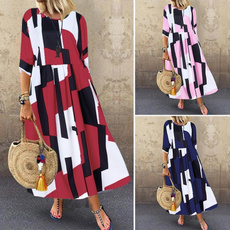 longloosedres, ruffled, Sleeve, sundress