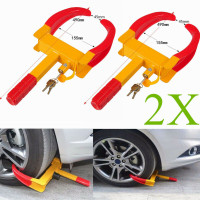 trailer Tire locks wheel Claw tire boot Max 10 Width for Boats ATVs Motorcycles Campers OKLEAD Security Wheel Clamp Lock 25.4 cm