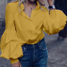 shirtsforwomen, Loose, Long Sleeve, blusasfeminina