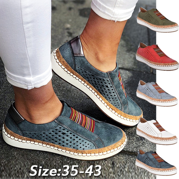 Women Shoes Soft Leather Hollow-Out