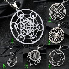 Steel, metatron, Flowers, Triangles