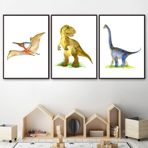 canvaspaintingunframed, art, animalcanva, Dinosaur