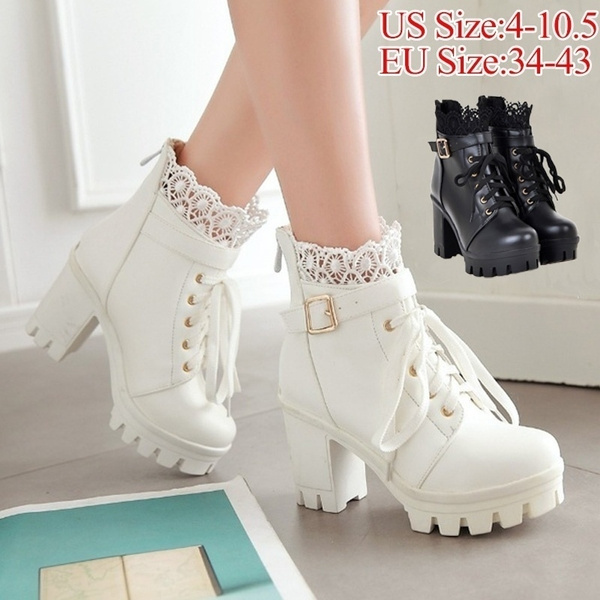 high heel ankle boots leather
