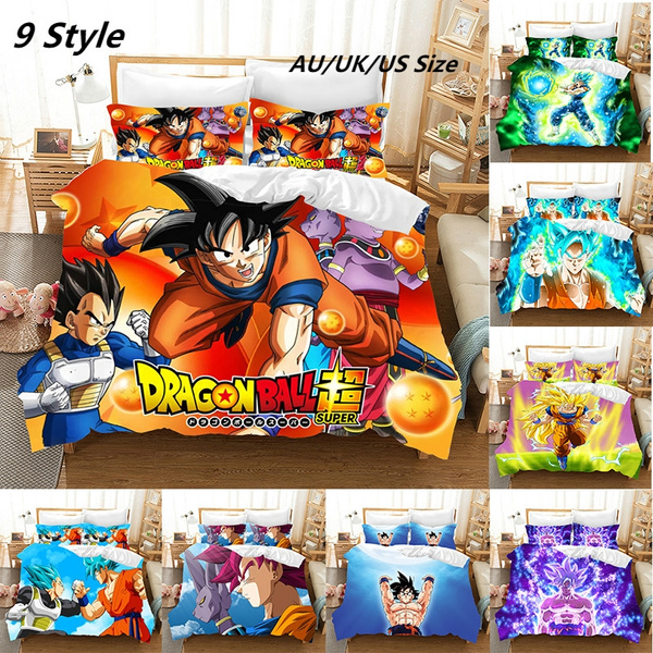 animebeddingset, dragonballzbeddingdouble, dragonballbeddingset, bedroom