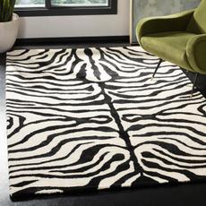 Zebra, Handmade, Wool, area rug