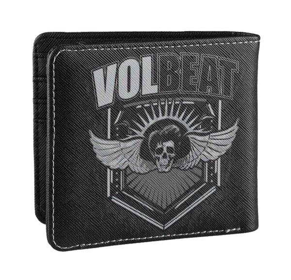 Wallet, black, Wings, skull
