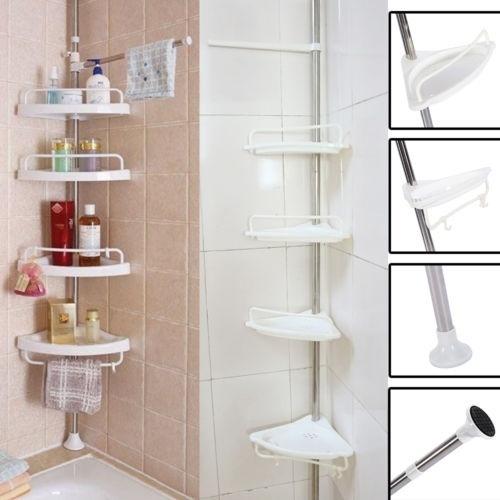 4 Shelves Bathroom Shower Caddy Holder, Corner Shelves Bathroom Shower