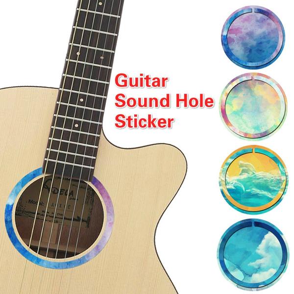 Shell Akustische Gitarre Soundhole Aufkleber Aufkleber für Akustikgitarre