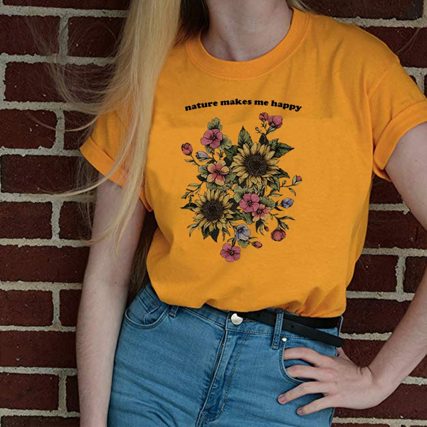 Womens Floral Tee Floral Initial Wreath Cream Shirt Plus Size Nature Tee Floral Nature Shirt Personalized Gift NATURE SHIRT