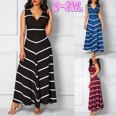 Sleeveless dress, Plus Size, Necks, highwaistdres