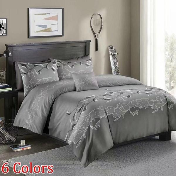 King, Home Decor, greyduvetcover, Bedding