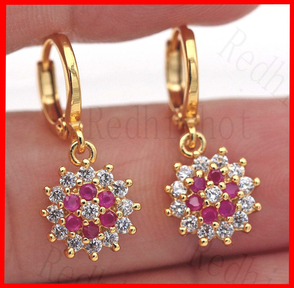 gold, garnet, gemstonejewellery, Earring