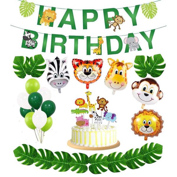 kidspartyfavor, animalbirthdayparty, paperbanner, babyshowerdecoration