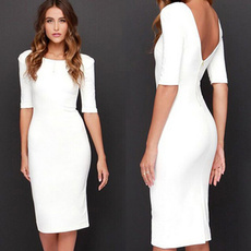 Office, Elegant, long dress, Dress