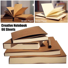 sketchbook, officeampschoolsupplie, traveldiarynotebook, brown
