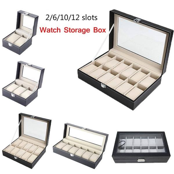 case, Box, puleatherwatchdisplaybox, leather