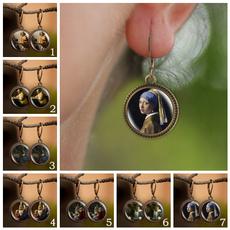 art, brassearring, Dangle Earring, Jewelry