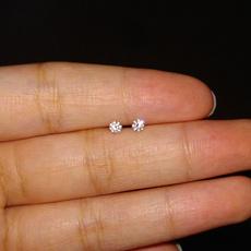 earringsforwoman, Sterling, DIAMOND, sterling silver