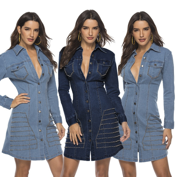 denim dress, Women, Jeans Dress, Fashion
