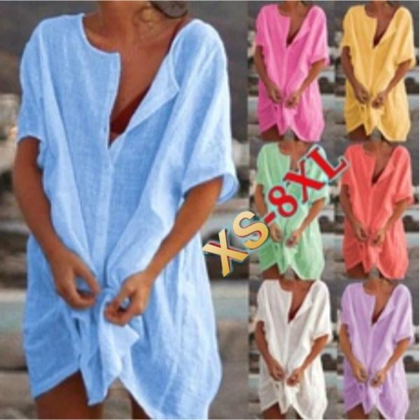 Summer, Fashion, Deep V-Neck, bathing suit cover ups