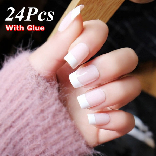 pink, nail tips, Beauty, frenchnail