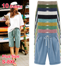 cottonshort, Beach Shorts, Waist, drawstringshort