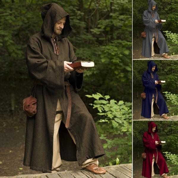 hooded, Medieval, Sleeve, men clothing