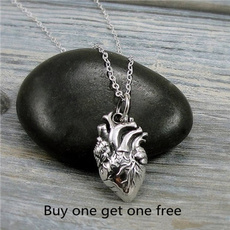 Heart, Jewelry, gothgothic, heart necklace