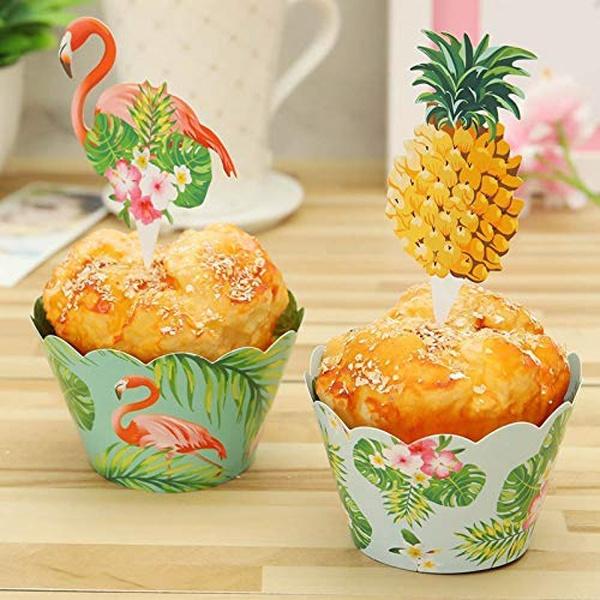 flamingo, cupcake, pineapplecupcake, cupcakewrapper