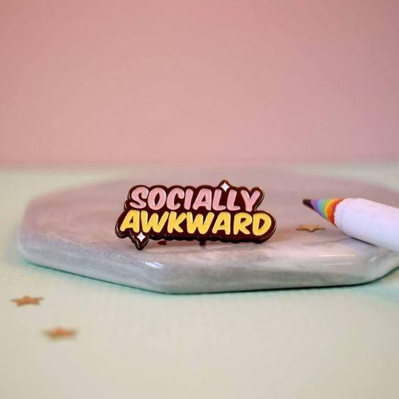 sociallyawkwardpin, brooches, backpackpin, Brooch Pin