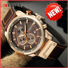 Fashion, Waterproof Watch, business watch, leather strap