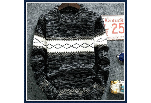 Mens Knitted Cashmere Wool Sweaters Autumn Winter New Pullover Men Casual O Neck Jumper Sweater Men Pull Homme