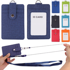retractable, idholder, leather, idcard