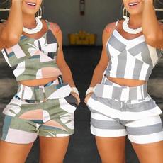 2pieceset, Shorts, women sexy tops, topandpantsset