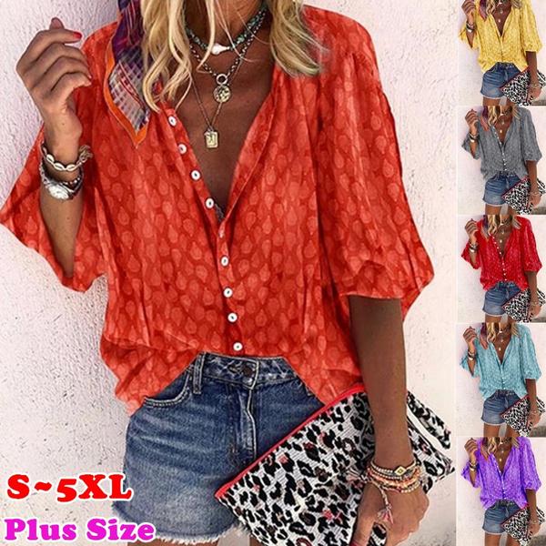 blouse, Plus size top, Women Fashion Tops, Sleeve