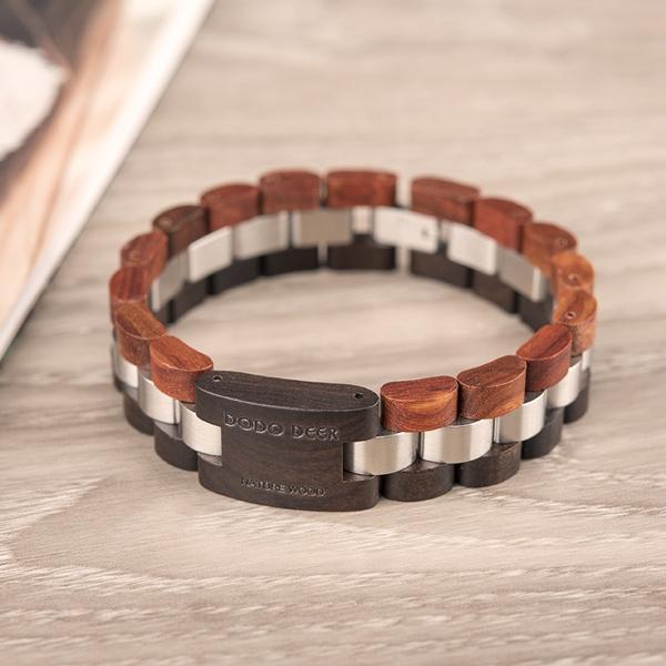 Steel, Wood, woodbracelet, Jewelry