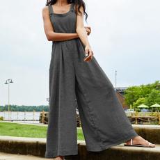 Summer, casualjumpsuit, Plus Size, pants