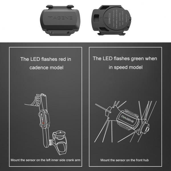 MAGENE ANT+Bluetooth Bike Speed Cadence Dual Sensor for Garmin iGPSPORT Bryton