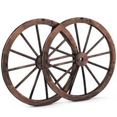 woodenwheel, wagon, Decor, Garden