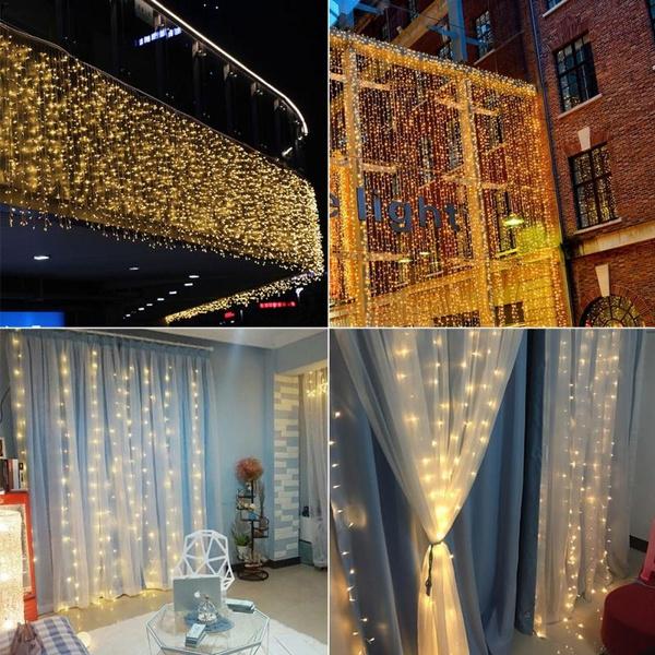 fairycurtainswindowlight, fairycurtainsstringlight, led, Christmas