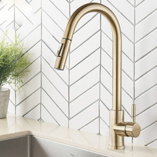 mixertap, gold, Stainless Steel, Faucets